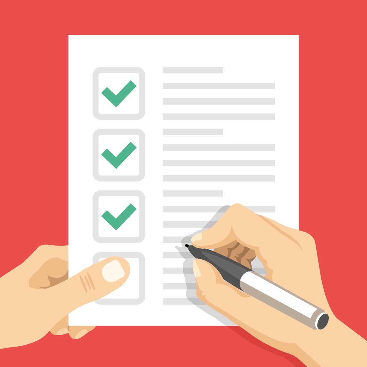 checklist personas